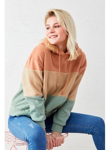 EKA Kapüşonlu Polar Sweatshirt Bej